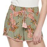 Juniors' Mudd Rayon Crinkle Tulip Short