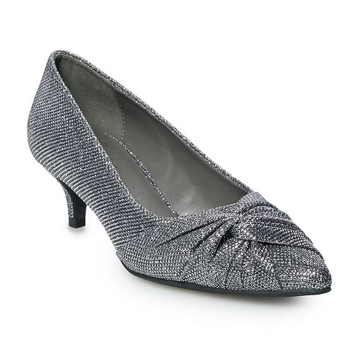 New York Transit Kaylynn Women's Kitten Heel Pumps