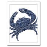 "Americanflat ""Navy Blue Tribal Crab"" Framed Wall Art"