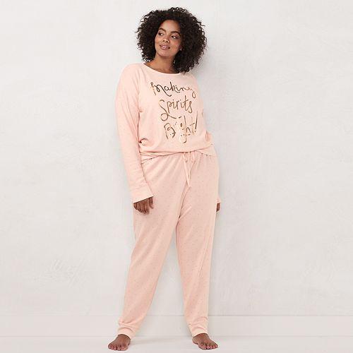 Plus Size LC Lauren Conrad Extra Soft Pajama Set