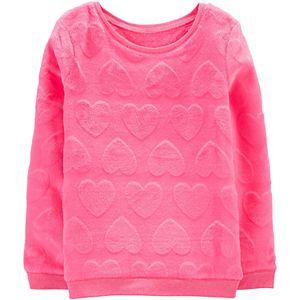Girls 4-12 Carter's Heart Fuzzy Sweatshirt