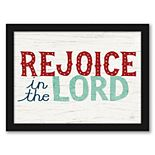 """Americanflat """"Rejoice In The Lord V2"""" Framed Wall Art"""