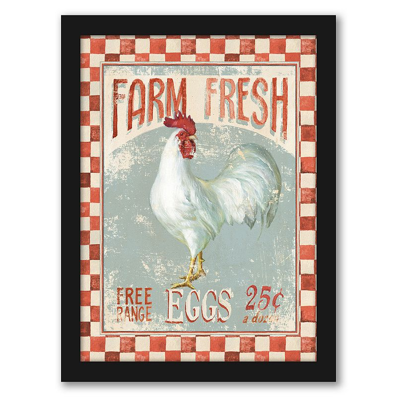 """Americanflat """"Farm Nostalgia Vii"""" Framed Wall Art. Multicolor. 15X12"""