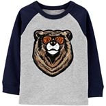 "Toddler Boy Carter's ""Cool Dude"" Bear Raglan Tee"