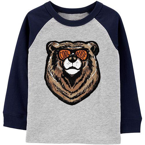 "Toddler Boy Carter's ""Cool Dude"" Bear Raglan Tee"