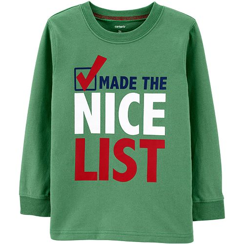 "Toddler Boy Carter's ""Made The Nice List"" Christmas Tee"