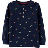 Toddler Boy Carter's Christmas Dinosaurs Henley Top