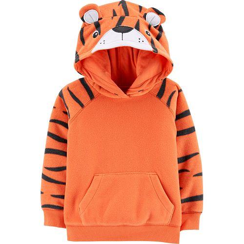 Toddler Boy Carter's Tiger Pullover Fleece Hoodie
