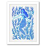 "Americanflat ""Kelp Forest Mermaid Blue"" Framed Wall Art"