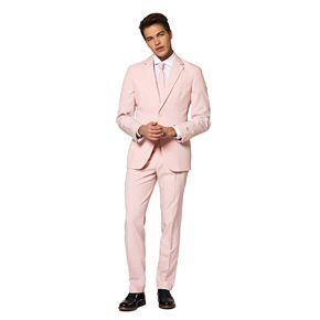 Men's OppoSuits Slim-Fit Lush Blush Solid Suit & Tie Set