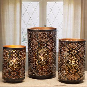 Elements Tapestry Luminaries Candleholder 3-piece Set