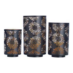Elements Sunflower Luminaries Candleholder 3-piece Set