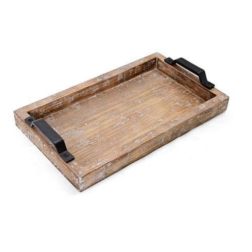 Elements Distressed Wood Tray
