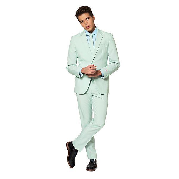 Men's OppoSuits Slim-Fit Magic Mint Solid Suit & Tie Set