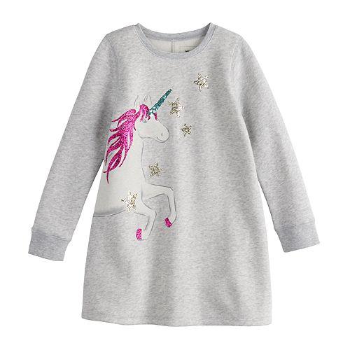Girls 4-12 SONOMA Goods for Life™ Graphic Fleece Dress