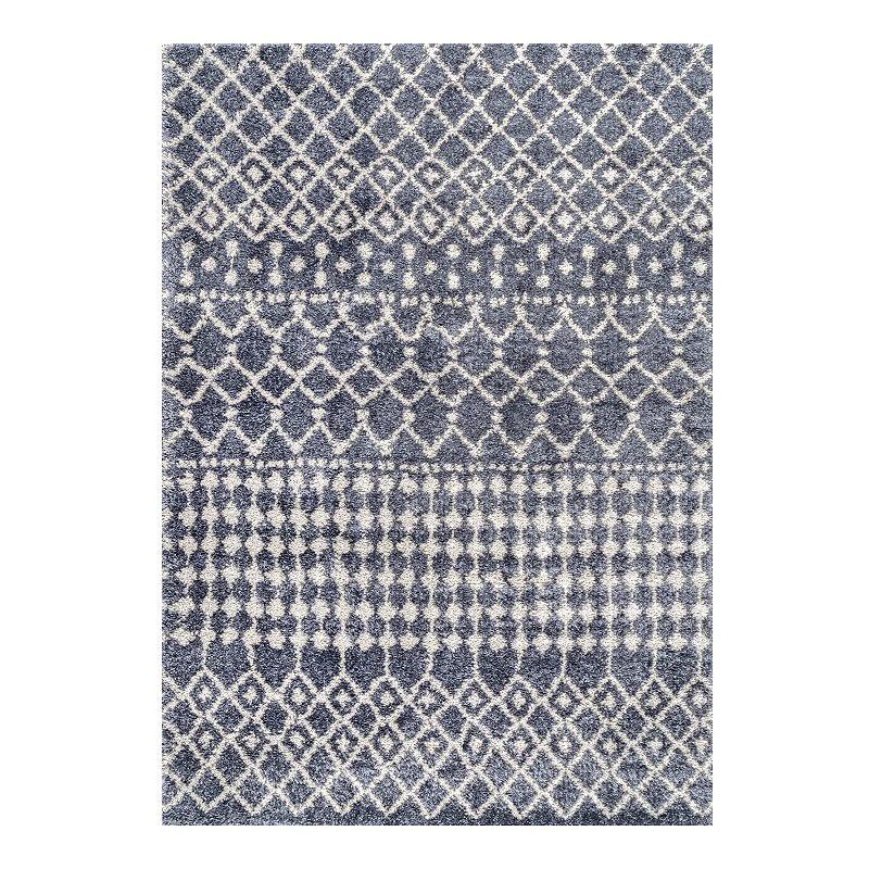 nuLOOM Moroccan Barbara Rug. Grey. 6.5X9 Ft