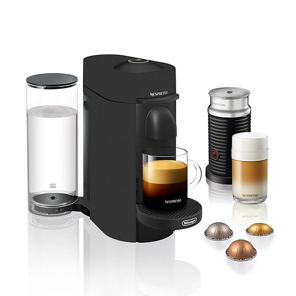 Nespresso Vertuo Plus Coffee & Espresso Machine with Aeroccino Milk Frother by DeLonghi