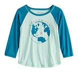 Girls 7-16 & Plus Size Mudd® 3/4 Sleeve Graphic Tee