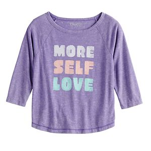 Girls 7-16 & Plus Size Mudd 3/4 Sleeve Graphic Tee