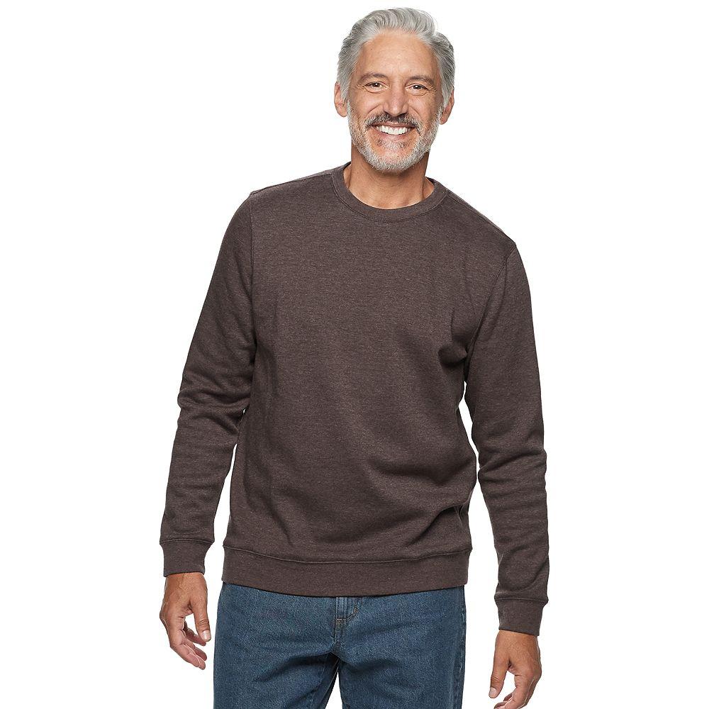 Men's Croft & Barrow® Polyester Crew Neck Sweatshirt