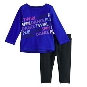 Baby Girl Jumping Beans® Active Swing Top & Leggings Set