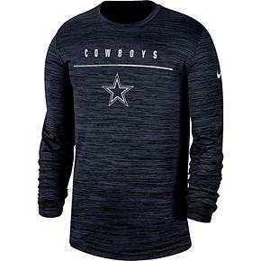 Men's Dallas Cowboys Nike Velocity Sideline Long Sleeve Tee