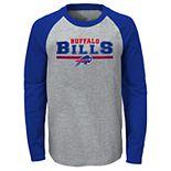 Boys NFL Reverse Varsity Block Raglan L/S Tee - Buffalo Bills
