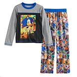 Boys 4-12 Sonic Hedgehog Pajama Set