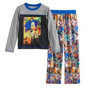 Boys 4-12 Sonic Hedgehog Pajama Set