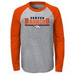 Boys 4-20 NFL Denver Broncos Reverse Varsity Block Raglan L/S Tee