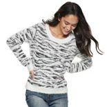 Juniors' Mudd® Eyelash Crew Pullover Sweater