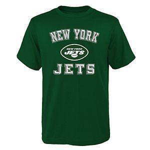 Boys 4-20 NFL New York Jets Big Bevel Short Sleeve Tee