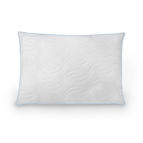 Ecopedic Quilted Fiber Pillow with Gel-Infused Memory Foam Core