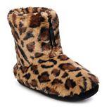 Juniors' SO® Faux Fur Zip Bootie Slippers