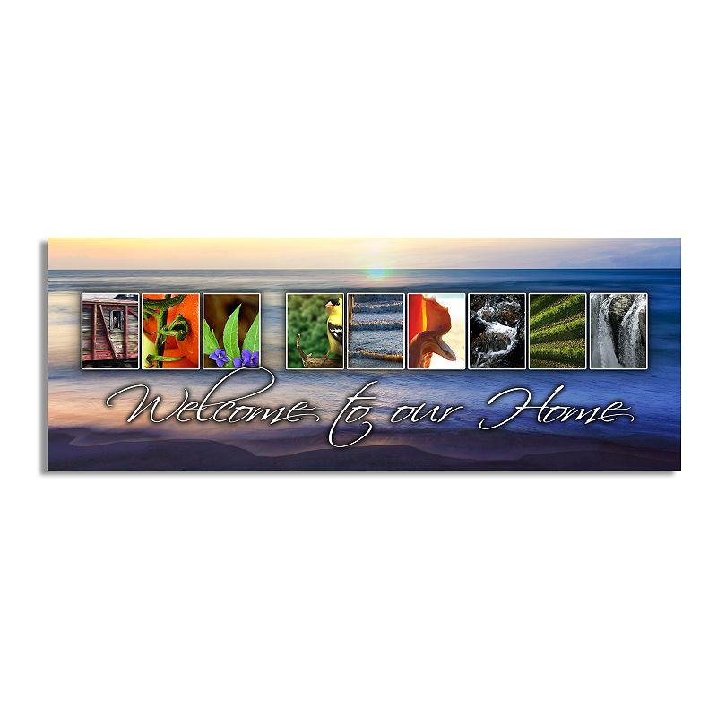 """""""Personal-Prints """"""""New Jersey - State Welcome"""""""" Block Mount Wall Art. Multicolor. 6.5x18"""""""