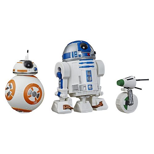 Star Wars Galaxy of Adventures 3-pack R2-D2, BB-8, D-O Toy Droid Figures by Hasbro