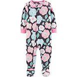 Toddler Girl Carter's Floral Fleece Footie Pajamas