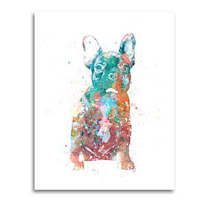 Metaverse Art Dog Au Vin, French Bulldog Canvas Wall Art