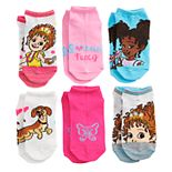 Disney's Fancy Nancy Girls 6-Pack No-Show Socks