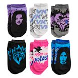 Disney Descendants 3 Girl 6-Pack No-Show Socks