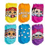 Girls L.O.L. Surprise! 6-Pack No-Show Socks