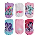 Girls My Little Pony 6-Pack No-Show Socks
