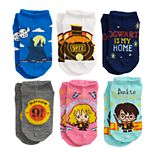 Girls Harry Potter 6-Pack No-Show Socks