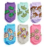 Disney / Pixar's Toy Story 4 Girls 6-Pack No-Show Socks