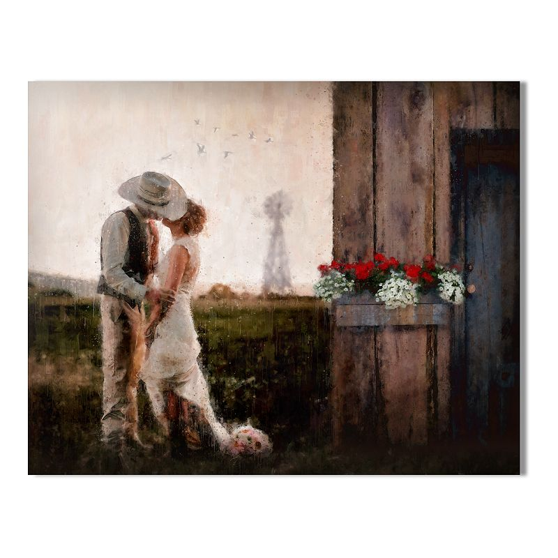 """""""A Country Romance Wall Art - Wood Block Mount LG. Multicolor. 11""""""""X14"""""""""""""""