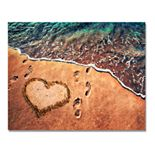 Toes in the Sand Wall Art - Wood Block Mount