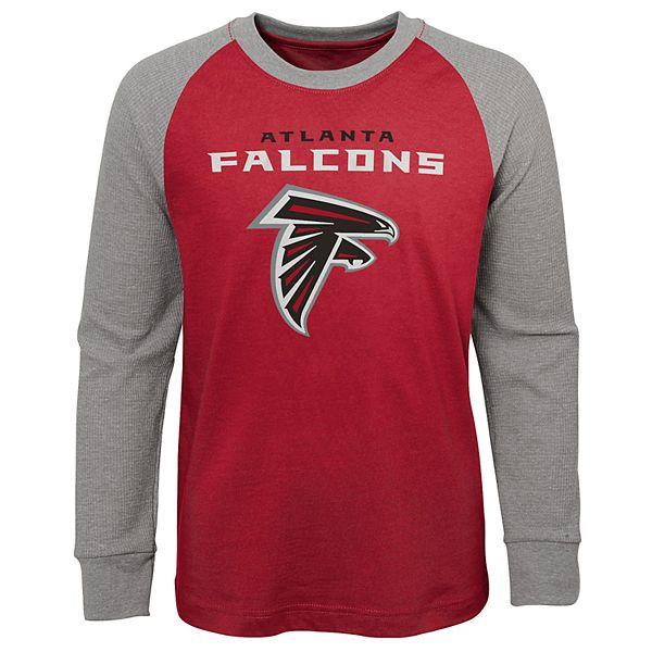 Boy's 4-20 NFL Atlanta Falcons Raglan Thermal Long Sleeve Tee