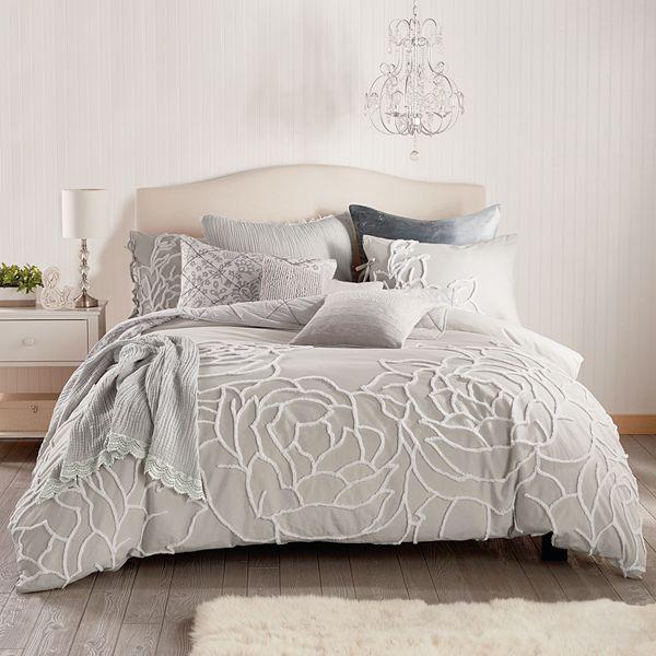 Peri Chenille Comforter Set, Chenille Bedding Queen
