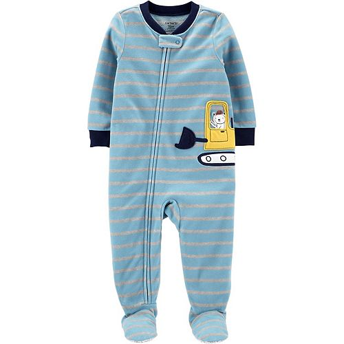 Baby Boy Carter's 1-Piece Construction Fleece Footie PJs
