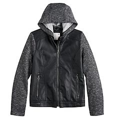 c57a1d932c9 Girls 7-20 SO Faux Leather Zip-Up Jacket